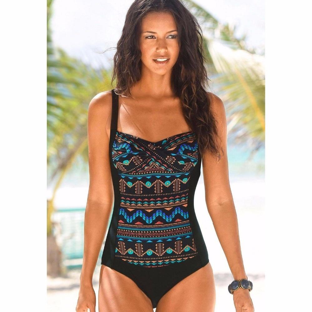 Plus Size One Piece Swimsuit Women Swimwear Solid Monokini Maillot De Bain Femme Bodysuit Female Bathing Suit Black Blue 5