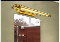 54 см/66 см Ванная комната зеркало лампа Водонепроницаемый Ретро Бронзовый Кабинет косметическое зеркало с подсветкой 100% латунь настенный св