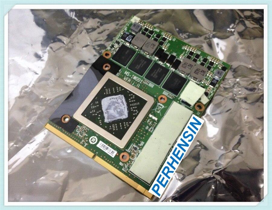 POUR MSI GX70 MS-176K POUR Radeon HD 8970 m GDDR5 2 gb CARTE VGA MS-1W0D1 109-C60846-00A 100% FONCTIONNENT PARFAITEMENT