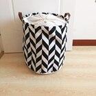 fashion design canvas laundry basket with PU handles ,laundry hamper,storage basket ,storage container ,storage organizer
