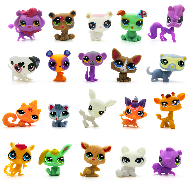 LPS 20pcs/lot Animal Toy Cat Great Short Hair Dog MiNi Shop lps Collections Pet Action Figure Kid Lovely Toys Dane For Chirdlen