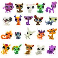 LPS 20 sztuk/partia zabawka w kształcie zwierzątka kot świetne krótkie włosy pies MiNi sklep lps kolekcje Pet figurka Kid piękne zabawki Dane dla Chirdlen