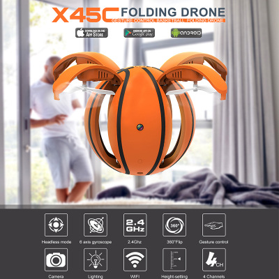 Creative Mini RC Folding Ball Drone with HD Camera 1