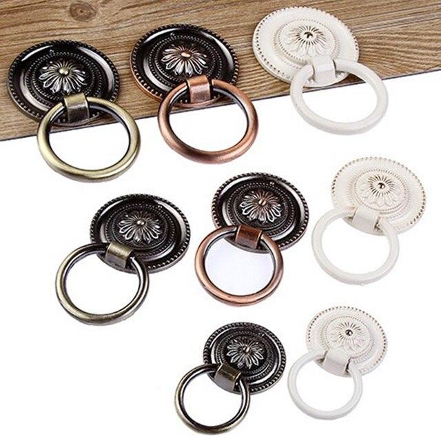 Merveilleux Vintage Cabinet Knob Drawer Dresser Cupboard Drop Ring Handle Vintage  Drawer Knobs Bronze Copper White Pull