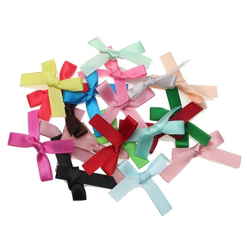 50 шт, смешанные цвета, бант из атласной ленты Заколки для волос орнамент для рукоделья бант из корсажной ленты галстук-бабочка Скрапбукинг с...