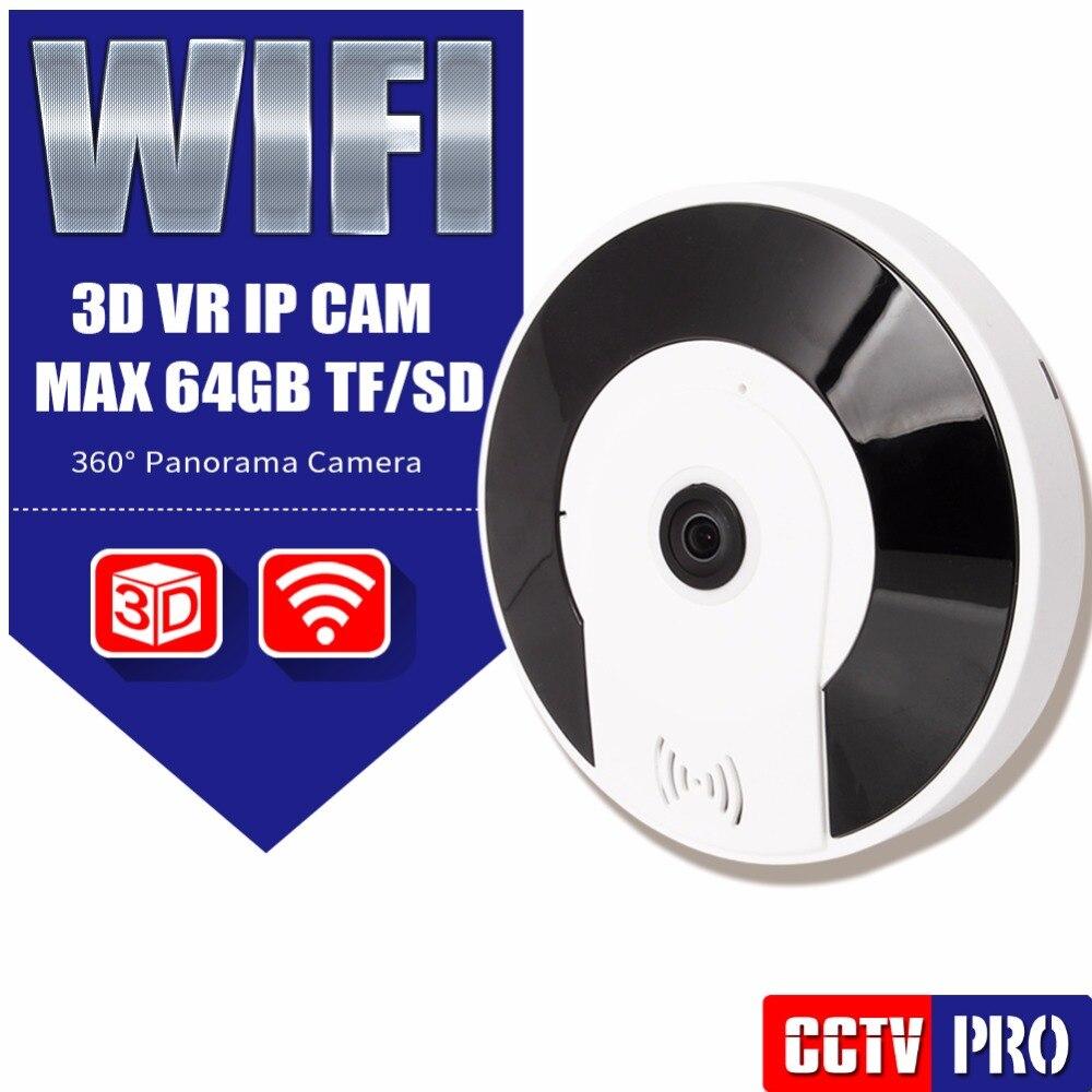 ФОТО HD Wireless VR 1080P IP Camera WiFi Security CCTV Camera Surveillance Night Vision Max 128G SD Card,360 Degree Fisheye V380 View
