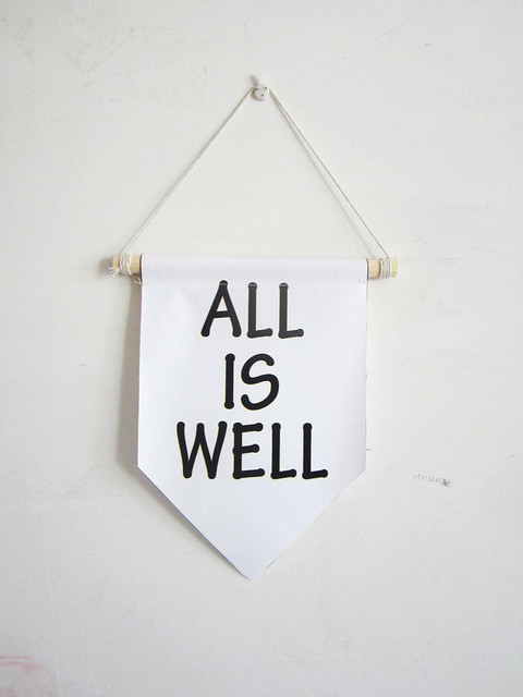 All Is Well Canvas Bannermotivation Wall Quotesnursery Decor Wall
