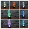 New 2017 Light Bulb Shape 3D LED USB Lamp Fashion Creative Design Flash Atmosphere Touch Remote