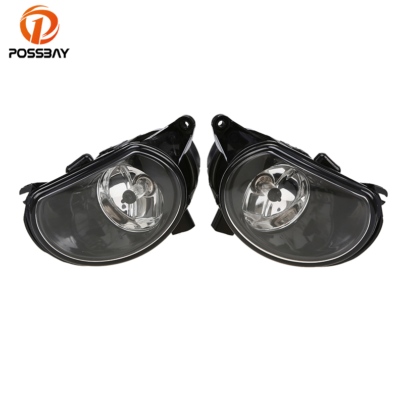 POSSBAY Car Front Fog Light Lamp Halogen External Lights Accessories for Audi A3(Typ 8P) A3/S3/Sportback/Quattro 2004-2008 12pc x canbus led interior dome map light kit package for audi a3 s3 8p 2006 2013