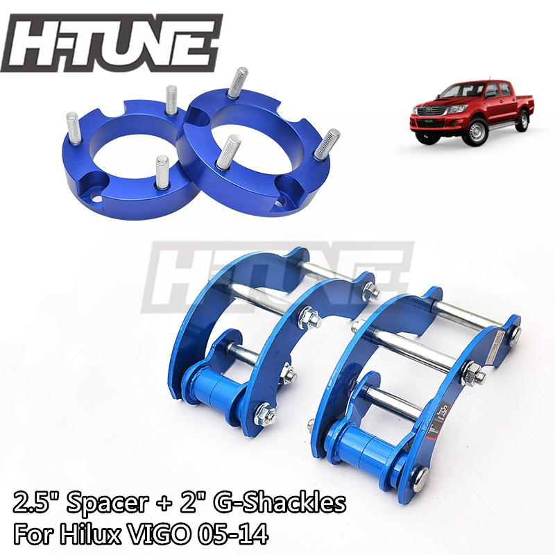 H-TUNE 4x4 Accesorios 32mm entretoise avant et arrière étendu 2 pouces g-manille Kits de levage 4WD pour Hilux Vigo 05-14