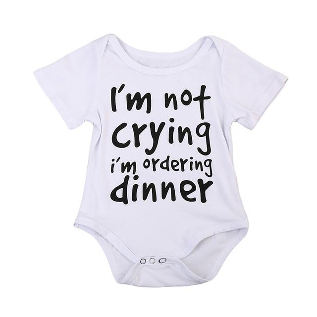 76a89bd915c6 Toddler Infant Newborn Baby Boy Jumpsuit Bodysuit dinner Letter ...