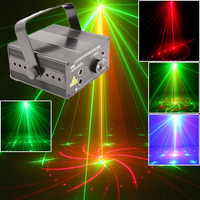 Mini Disco Party Laser Lights And Music Lumiere dj Equipment Red Green 18 Patterns Night Club Lighting