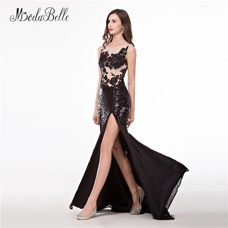 modabelle Slit Sexy Prom Dresses Sequin Applique vestidos largos de ... d120a0922cae