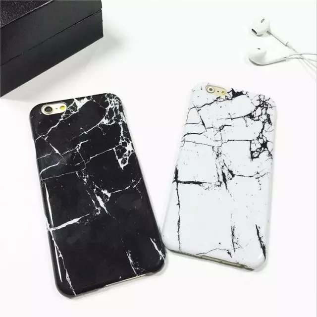 buy online 61cc7 eb732 US $2.59 |New 2017 Slim Coque For iphone 6S Marble Stone PC Case Protective  Funda Cover for iPhone 6 6S 7 Plus 5S SE Marble Cover Capinhas-in Fitted ...