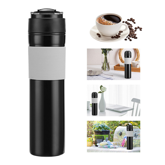 Abedoe Portable Tea Coffee Cup French Press Maker Stainless Steel Double Wall Mug Bpa Free