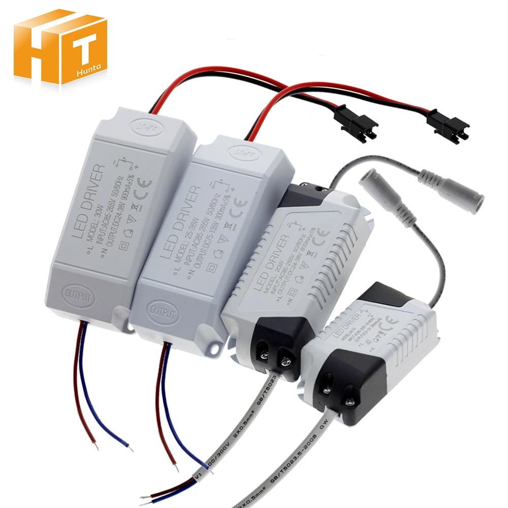 LED אספקת חשמל 1 W-36 W 300mA נהג מתאם AC85-265V שנאי תאורה LED פנל אור Downlight