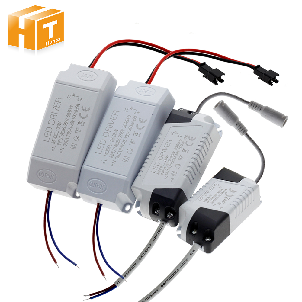 Power Supply LED 1 W-36 W 300mA Driver Adaptor AC85-265V Pencahayaan Transformator untuk LED Panel Lampu Downlight