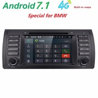 Android 7 11 Quad Core GPS Navigation 7 Car DVD Player For BMW E39 5 Series