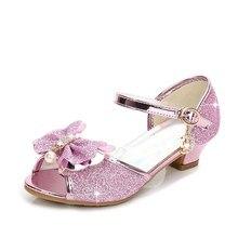 Girls Mini Melissa Glitter Shoes Baby Kids Summer Soft Leather Sandals 5  Colors Children Princess Wedding 4b1b08d6b4ce