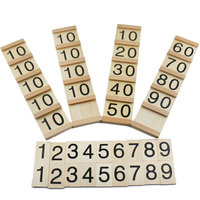 Wooden early educational montessori math toy Teens and Tens Boards montessori math materials learning toys for children B1266T