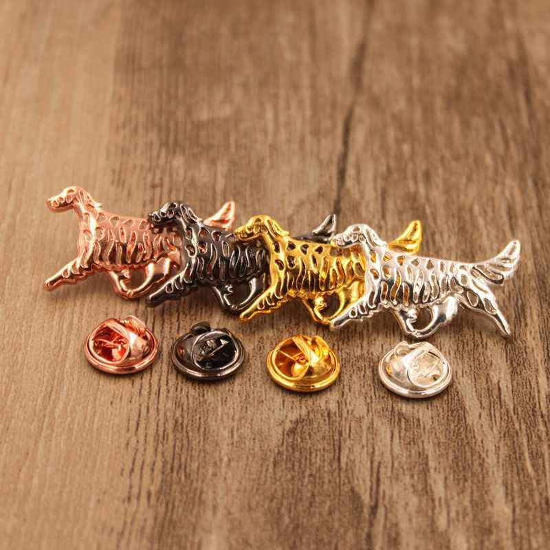 Mdogm 2019 English Setter Dog Animal Brooches And Pins Suit Cute Funny Small Father Collar Badges Gift For Male Men B162