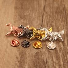 Mdogm 2019 English Setter Dog Animal Brooches And Pins Suit Cute Funny Small Father Collar Badges Gift For Male Men B162(China)
