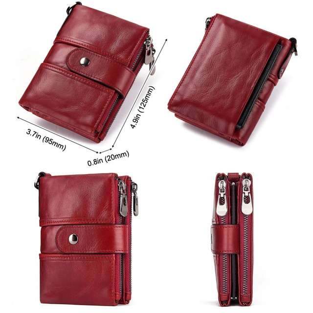 Rfid 100% Genuine Leather Women Wallet Female Coin Purse 8