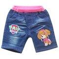 Nuevos Cabritos de La Manera de Los Niños Pantalones Cortos Pantalones de Cintura Elástica Ropa de Estilo Informal de Verano de Dibujos Animados Para Niños Y Niñas