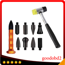 Paintless Dent Repair Tools Dent Removal PDR Tools Gold Tap Down Pen With 9 Heads Rubber Hammer Hand Tool Set Auto Body Repair auto repair dent removal pdr tools rubber hammer
