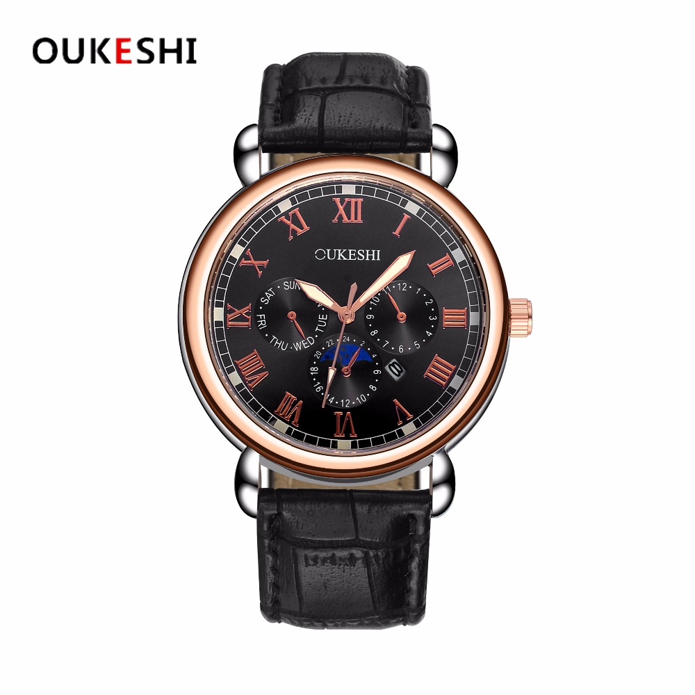 OUKESHI Fashion Wristwatch New Wrist Watch Men Watches Top Brand Luxury Famous Quartz Watch for Men Male Clock Relogio Masculino baosaili fashion wrist watch men watches brand luxury famous male clock women unisex simple classic quartz leather watch bs996