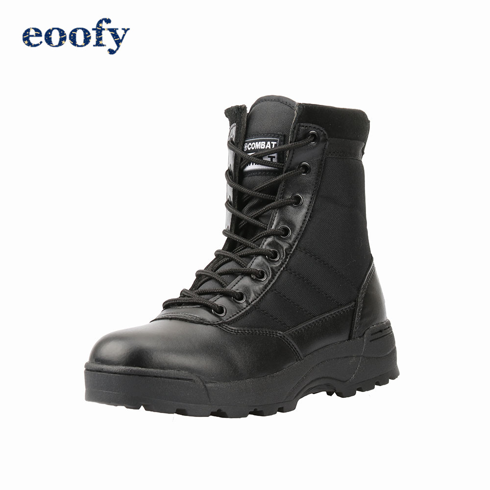 Desert Military Boots Men's Hilking Training Shoes Army Breathable Combat Ankle Boots Female 1