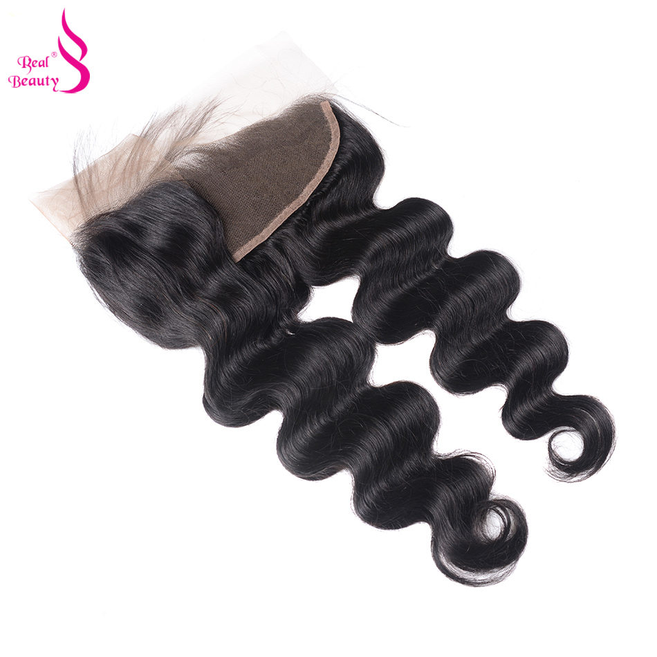 Real Beauty  Body Wave Lace Frontal  Natural Color 13X4 Ear To Ear Lace Closure  With Baby Hair 3