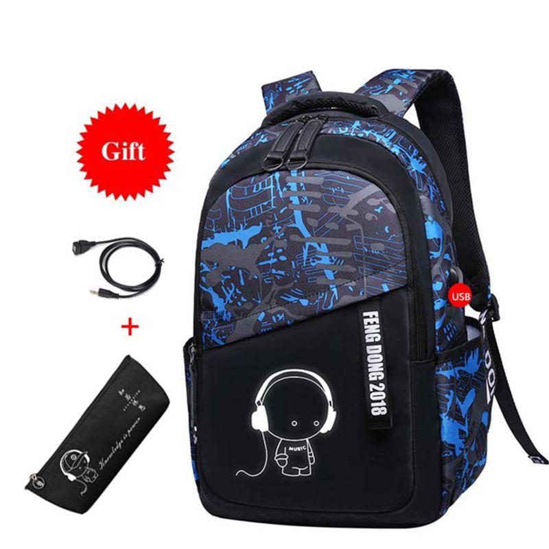 Large waterproof school backpack kids boys school bags childrens backpacks book bags schoolbags for teenagers male laptop bag
