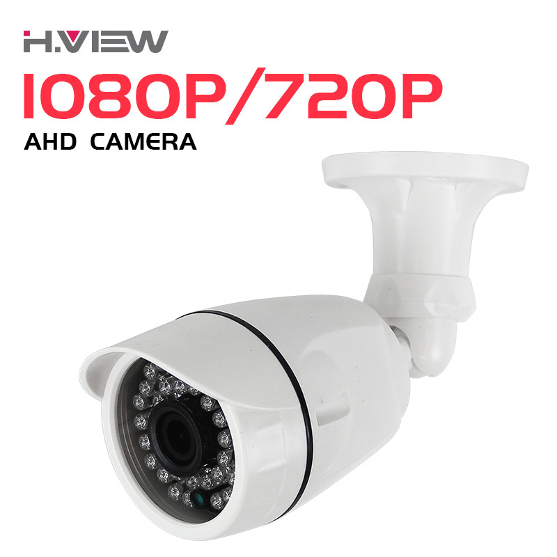 H.View AHD CCTV Camera CMOS IR Cut Camera 720P 1080P Outdoor Waterproof Bullet Security Camera For CCTV Camera System