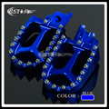 Billet CNC Blue Foot Pegs Pedals Rests For CR 125 250 500 CRF 150 230 250R 250X 450R 450X Motorcycle Offroad Motard Motocross