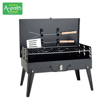 Outdoor Camping Stove BBQ Cooker Furnace Portable Hand-held Barbecue Charcoal Grill Box-type Burn Oven Wood Stove Equipment