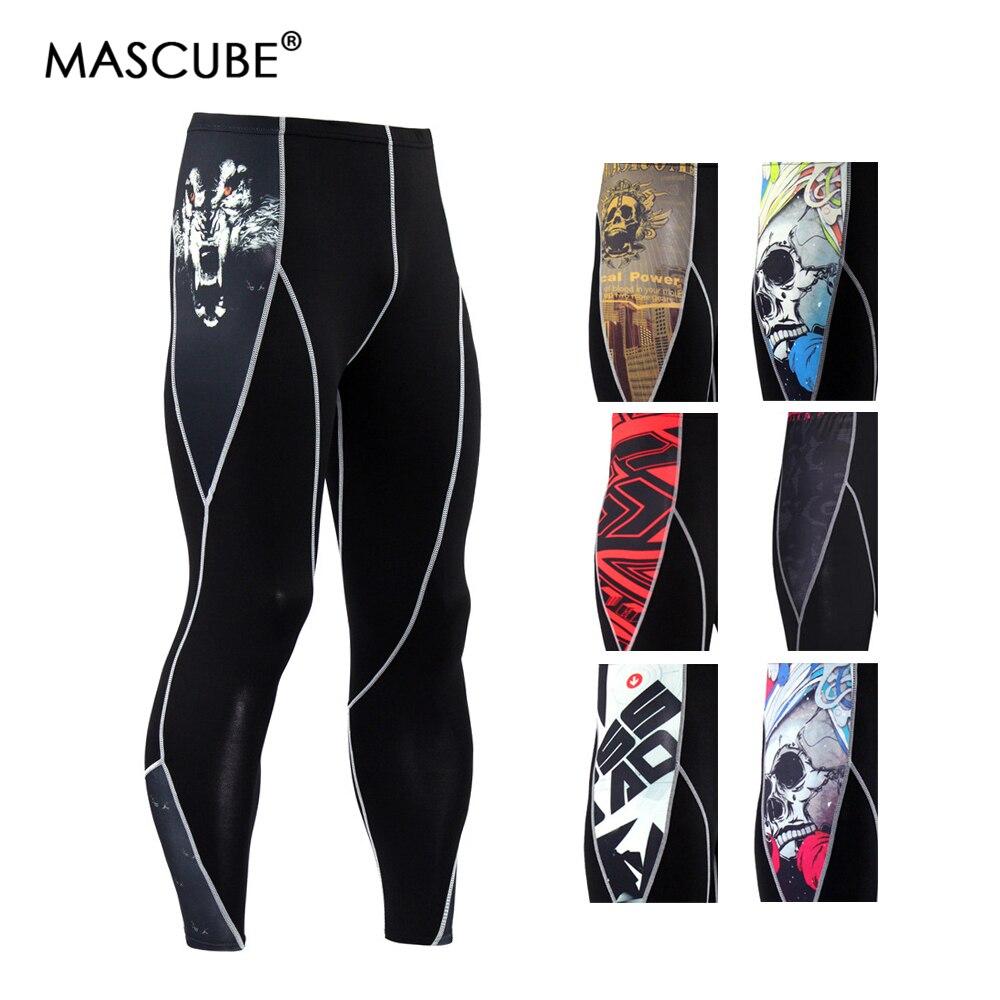 MASCUBE Running Tights Leggings For Men Sports Trousers Gym Fitness Skinny Sport Suit Thin Leggins Sportwear