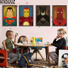 WXDUUZ Wonder Woman Iron Man Kids Room Decor Home Poster Wall Art Picture Room Painting Canvas Painting No Frame F04(China)