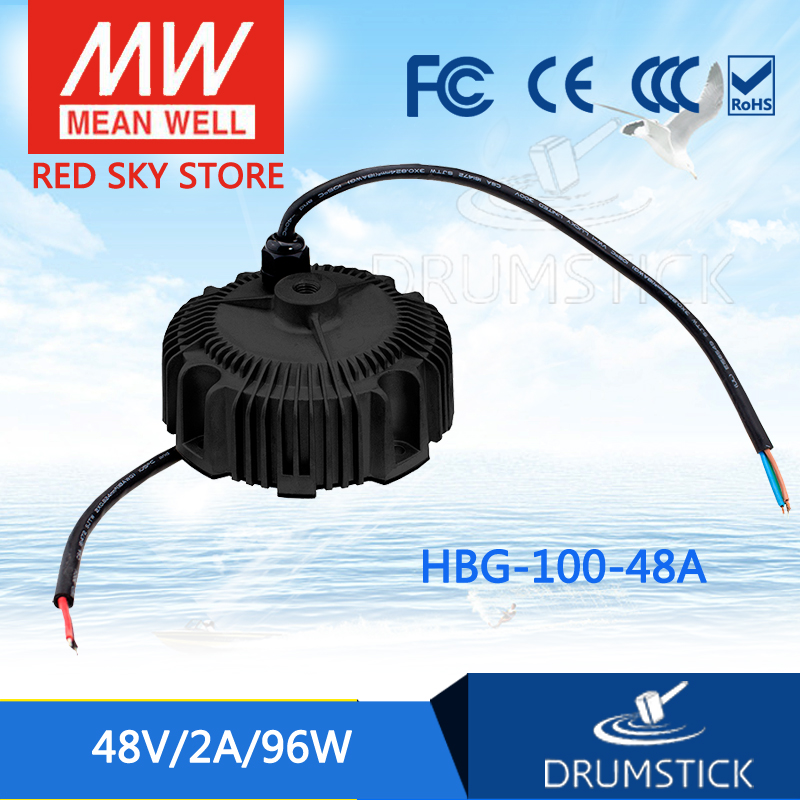 Best-selling MEAN WELL HBG-100-48A 48V 2A meanwell HBG-100 48V 96W Single Output LED Driver Power Supply [ba]mean well original hbg 240 48a 1pcs 48v 5a meanwell hbg 240 48v 240w single output led driver power supply