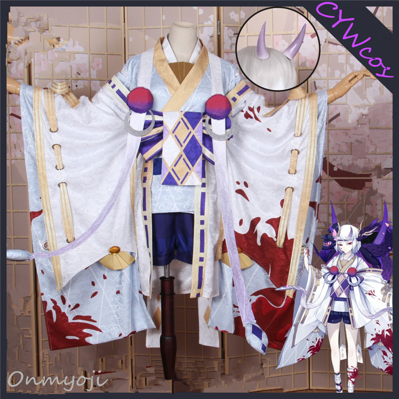 Onmyoji Game Cosplay SSR Yi Mulian Cosplay Costume Women Dress Uniforms Suits Halloween Costumes Kimono Top+Dress