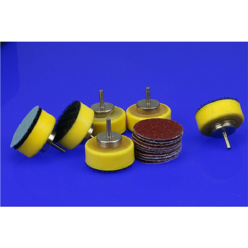 30pcs Round Sand Paper Disc + One 2.35mm Shank Flocking Disc Sandpaper Polishing Wheel Head Polisher Sander Polishing Tools 40pcs 80 2000 grinding machine round sand paper disc flocking sandpaper mirror polishing tools polisher sander burnishing sandi