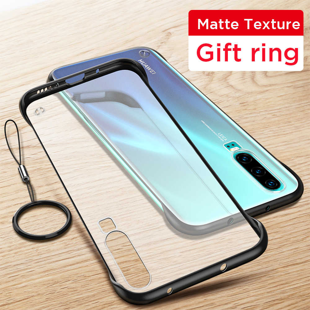 Luxury Frameless Case For Huawei P30 Pro Transparent Phone Case Hard Acrylic Cover For Huawei P 30 Pro P30Pro P30 Case