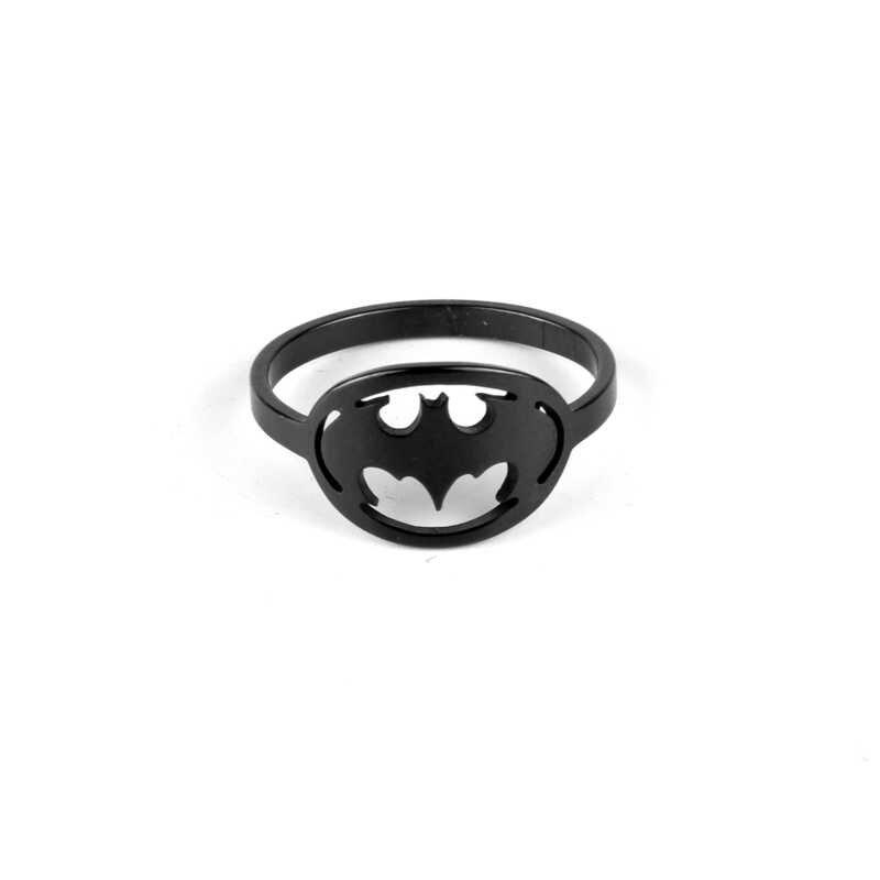 Di alta Polacco Dell'acciaio Inossidabile Batman Superman Anello per Gli Uomini di Alta Qualità Gioielli Accessori 2019 Nuovo Arrivo Serie di Supereroi Anello