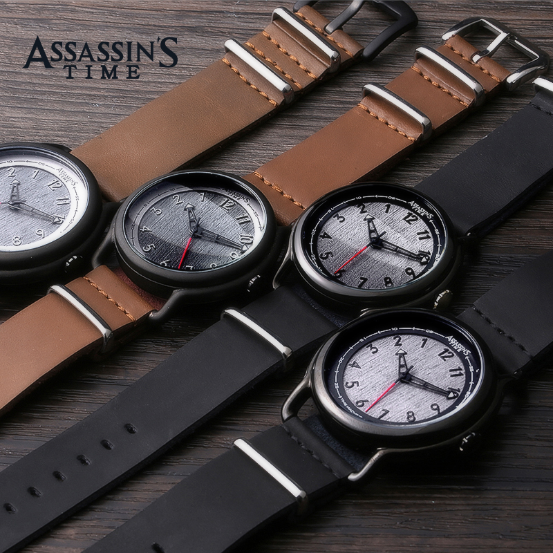 Assassins Time Top Brand Watch Män Quartz Watch Luxury Black Äkta - Herrklockor - Foto 4