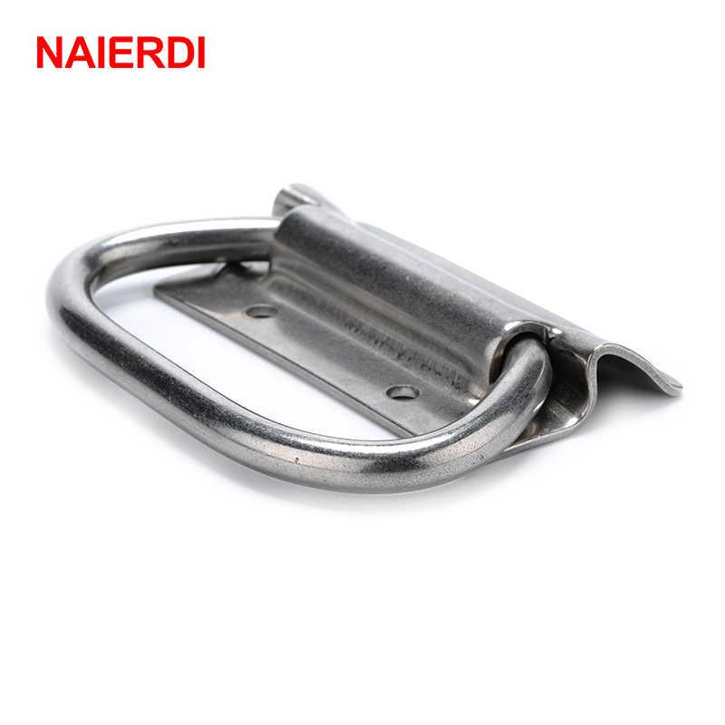 Manija de armario de NAIERDI-J204, pomo de maleta, caja de herramientas, manijas de acero inoxidable, tirador de cajón de cocina, oso de 250KG para herrajes de muebles