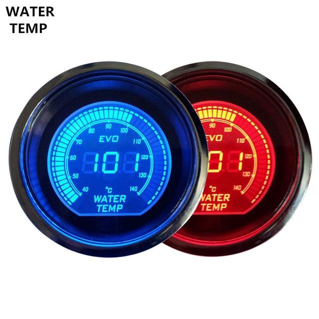 """Apoyo EE Nueva 2 """"52mm Digital Relojes Azul Rojo de Luz LED de Agua Medidor de Temperatura del Termómetro Celsius Ventas XY01"""