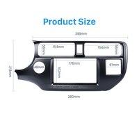 Seicane Double Din Car Stereo Fascia Trim Kit para 2011-2013 KIA Kit Painel Do Carro K3 RIO Mão Esquerda Estéreo Instalar Painel de Placa quadro