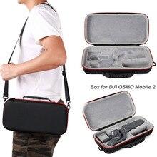 Sunnylife para dji mobile2 handhold cardan armazenamento bolsa de transporte pacote caso protetor para dji osmo móvel 2 acessórios