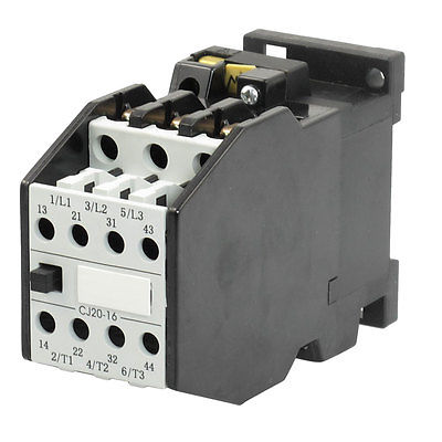 110V 50Hz Coil 13A 3 Pole 2NO 2NC 35mm Mounting Rail 11KW AC Contactor