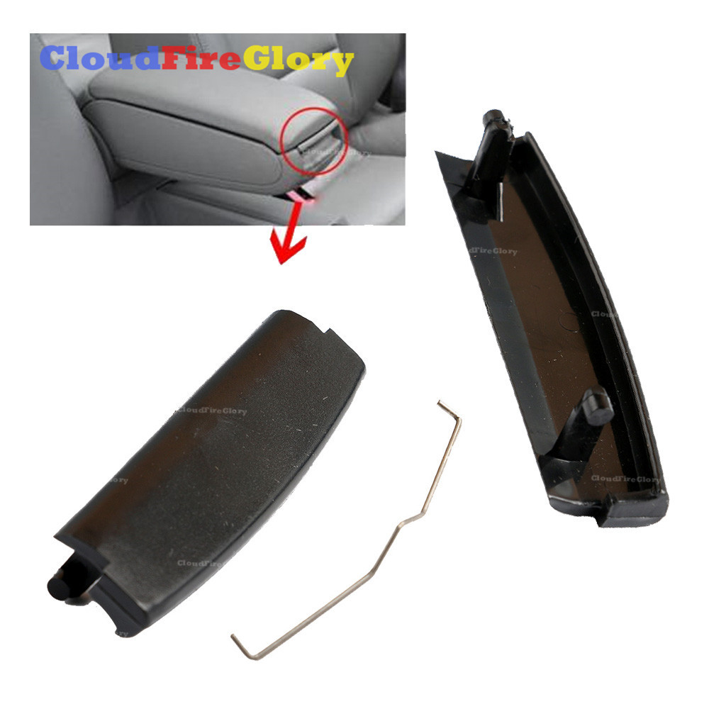 CloudFireGlory For Audi A4 S4 A6 C5 2001-2005 Black Car Inner Console Center Armrest Latch Lock Lid Clip 4B0864245AG